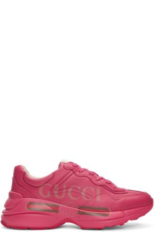 dbea927917c Gucci  Pink Vintage Logo Rhyton Sneakers