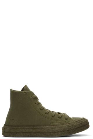 Khaki Converse Edition Felt Chuck 70 Hi Sneakers by Jw Anderson