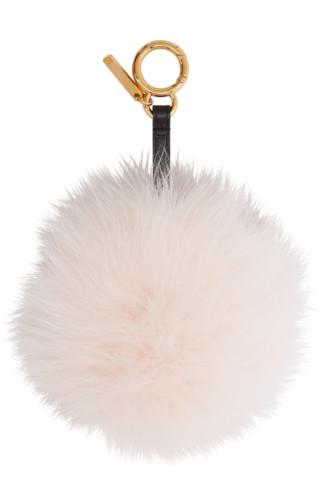 Pink Fur 'forever Fendi' Keychain by Fendi