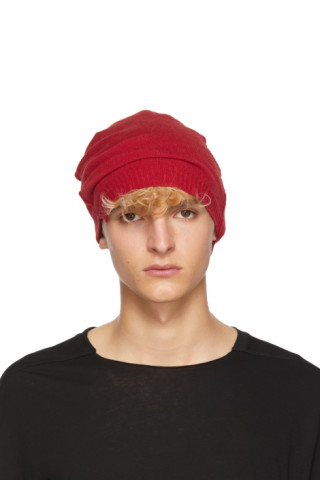 Isabel Benenato  Red Knit Beanie  c50c2dbcd3bd