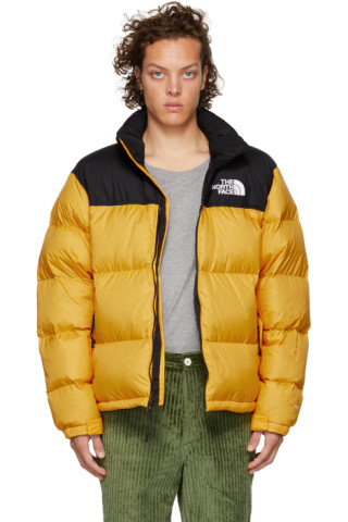 The North Face  Yellow   Black 1996 Retro Nuptse Jacket  e9dcba743