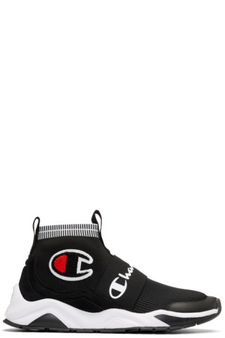 d80e0019a84cd1 Champion Reverse Weave  Black Rally Pro High-Top Sneakers
