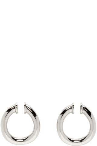 c80edbfd8 Portrait Report: Silver Small Twist Ring Ear Cuffs | SSENSE