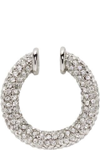 2762cbdf7 Portrait Report: Silver Swarovski Signature Twist Ear Cuff | SSENSE