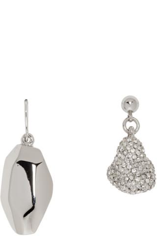 837ad07f7 Portrait Report: SSENSE Exclusive Silver Asymmetric Grace Jones Earrings |  SSENSE