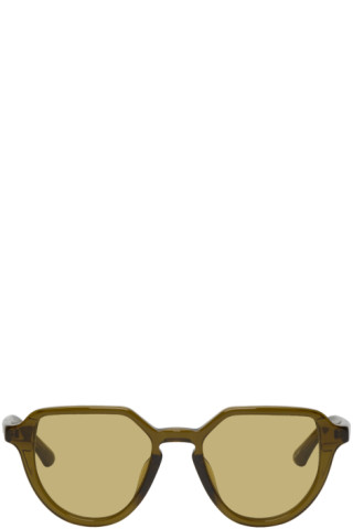 568c5d2d45 Dries Van Noten  Green Linda Farrow Edition Almond Sunglasses