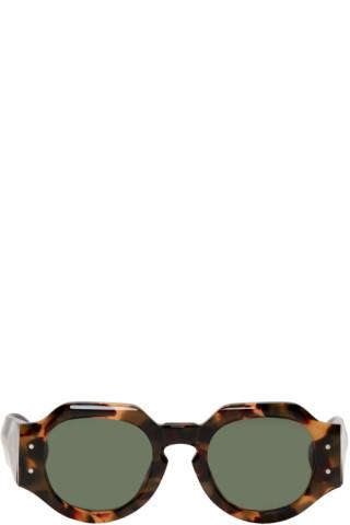 537c0929f1 Dries Van Noten  Tortoiseshell Linda Farrow Edition 174 C3 Angular  Sunglasses