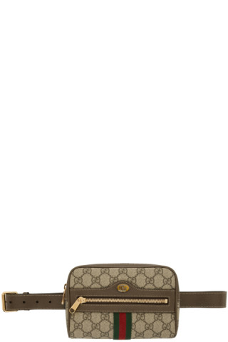 476aa81deaa2 Gucci: Brown Small GG Supreme Ophidia Belt Bag | SSENSE
