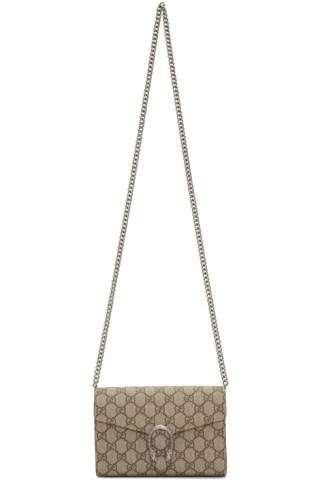 990c1f7c5b1 Gucci  Sac portefeuille beige GG Supreme Dionysus