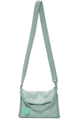 aaea8d34330340 Stella McCartney: Blue Mini Falabella Candy Shoulder Bag | SSENSE Canada