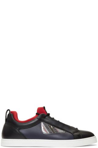 Black & Navy Bag Bugs Sneakers by Fendi