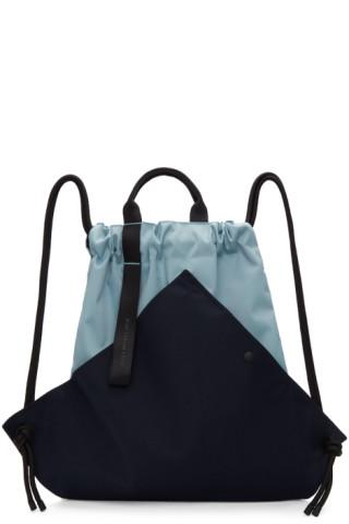 ad5236a728a02 Issey Miyake Men: Blue Kinchaku Backpack | SSENSE