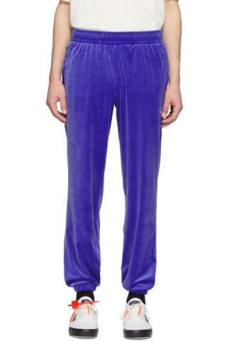 c8c2e97b56a0 Reebok Classics  Pantalon de survêtement en velours bleu Vector ...