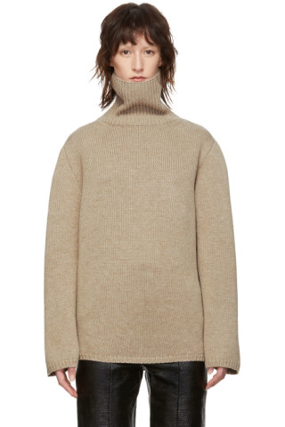 Beige Cambridge Turtleneck by TotÊme
