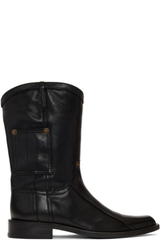 eed038b5c4a Martine Rose - Black Leather Cowboy Boots