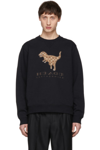 641ae22720 Coach 1941 - Black Signature Rexy Sticker Sweatshirt