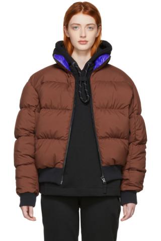 21d0aaee6b NikeLab  Reversible Brown   Purple Down NRG Puffer Jacket