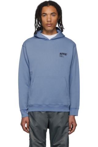 Affix Blue Basic Hoodie 192108M202001