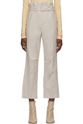 MM6 Maison Margiela - Beige Belted Trousers