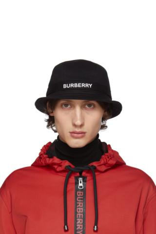 3e2a2d8a8 Burberry - Black Jersey SJ Bucket Hat