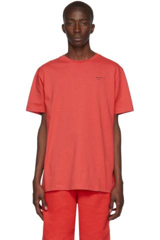 Off-White Red Logo Slim T-Shirt 192607M213030