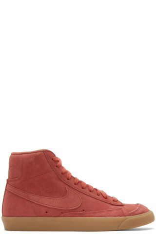 Nike Red Suede Mid'77 Sneakers 201011M236014