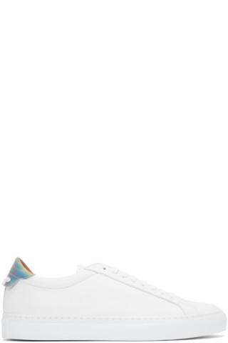 White Urban Street Hologram Sneakers by