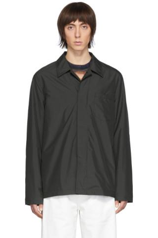 Our Legacy: Grey Tech Archive Shirt Jacket | SSENSE