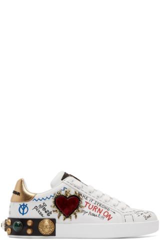 dolce gabbana graffiti sneakers