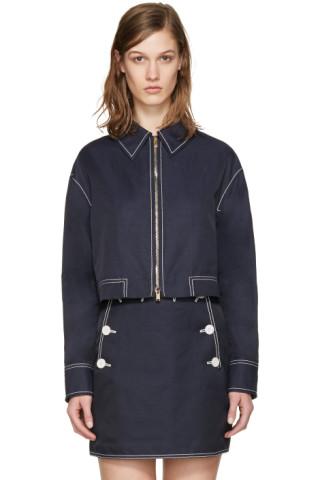 Navy Cropped Jacket