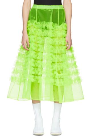Green Tulle Melanie Ruffle Skirt