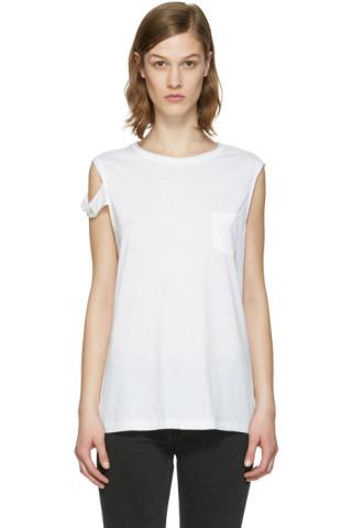 White Strappy T-Shirt