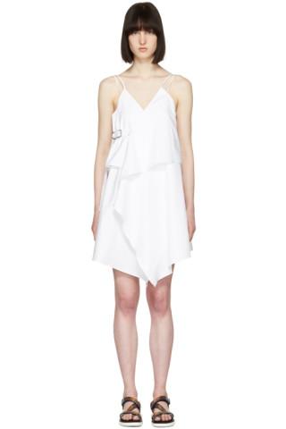 White Short Strap Dress
