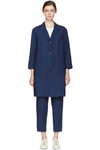 Indigo Linen Engineer Coat