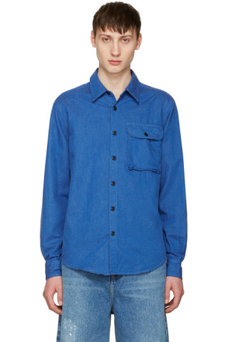 Blue Denim Utility Shirt