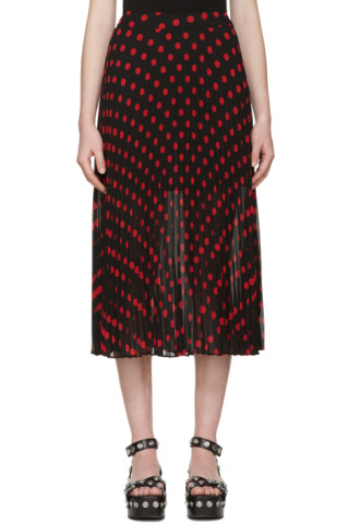 Black & Red Polka Dot Skirt