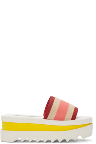 Multicolor Striped Platform Sandals