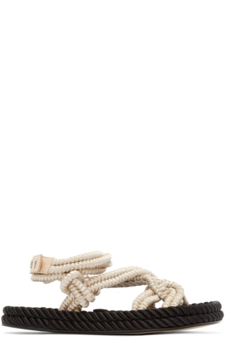 Ecru Lou Twisted Rope Sandals