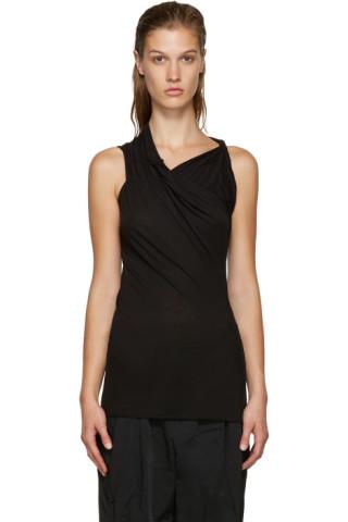 Black Draped T-Shirt