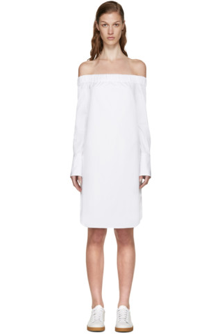 White Off-the-Shoulder Kacy Dress