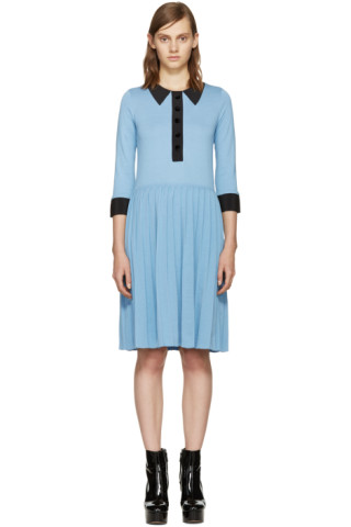 Blue Trompe L'Oeil Dress