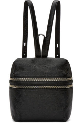 Black Small Double Zip Backpack