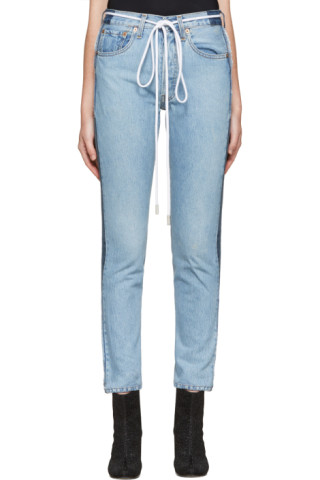 SSENSE Exclusive Indigo Twig High Slim Join Jeans