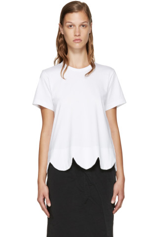 White Scalloped T-Shirt