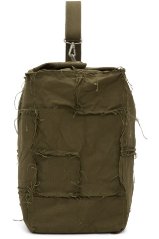 Green Canvas One Shoulder Backpack