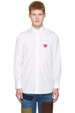 White Heart Patch Shirt