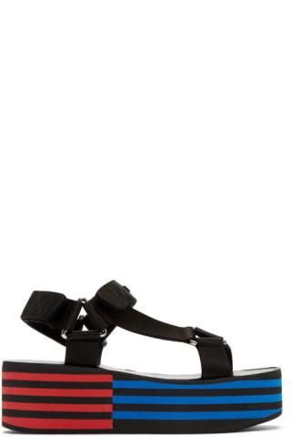 Black Flatform Sandals