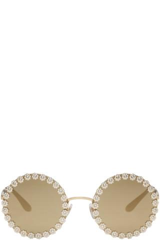 Gold Studded Daisy Sunglasses
