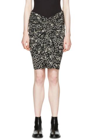 Black & Beige Geeny Skirt
