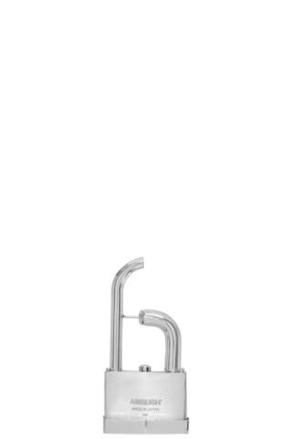 Silver Single Padlock Earring 2